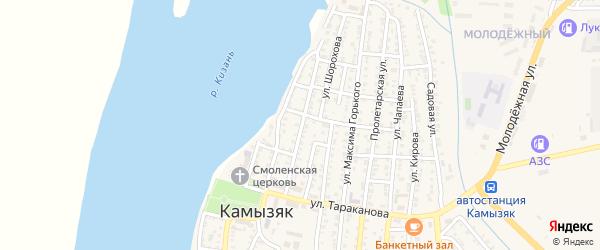Советская улица на карте Камызяка с номерами домов
