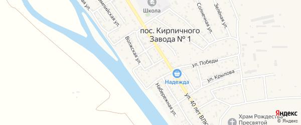 Бакинская улица на карте поселка Кирпичного Завода N1 с номерами домов