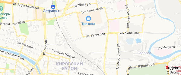 ГСК N40 на карте улицы Куликова с номерами домов