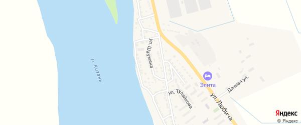 Улица Шаумяна на карте Камызяка с номерами домов