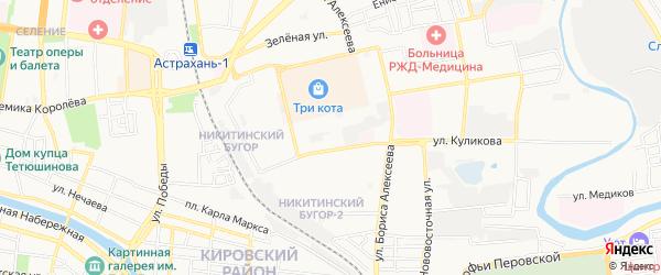 ГСК N31 Мечта на карте улицы Куликова с номерами домов