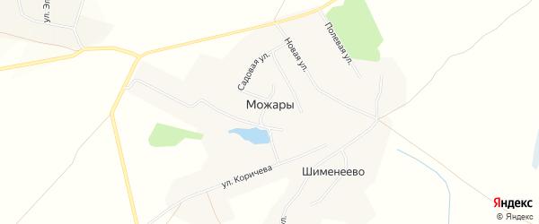 Карта деревни Можары в Чувашии с улицами и номерами домов