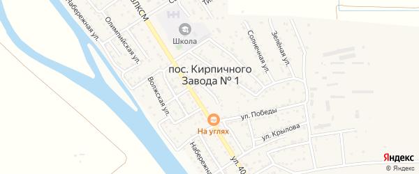 Янтарная улица на карте поселка Кирпичного Завода N1 с номерами домов