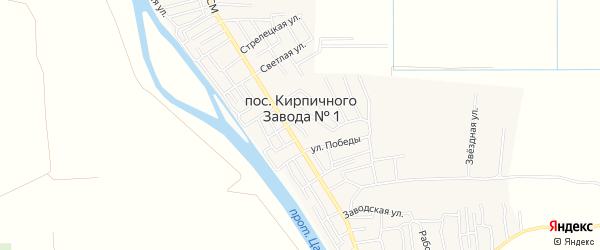 СТ Кооператор на карте поселка Кирпичного Завода N1 с номерами домов