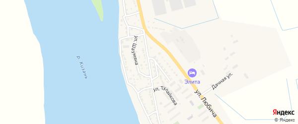 Улица Трусова на карте Камызяка с номерами домов