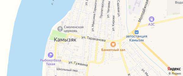 Улица Тараканова на карте Камызяка с номерами домов