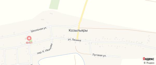 Набережная улица на карте деревни Козыльяры с номерами домов