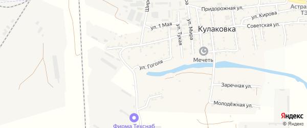 Улица Гоголя на карте села Кулаковки с номерами домов