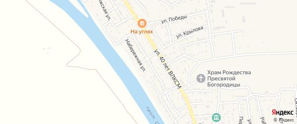 Садовая улица на карте поселка Кирпичного Завода N1 с номерами домов