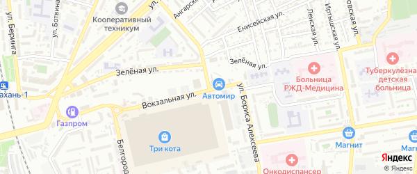 Улица Алексеева на карте Астрахани с номерами домов