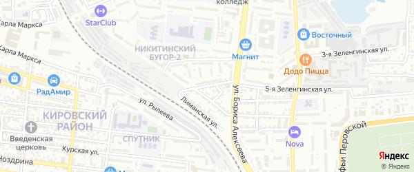 Зеленгинская 2-я улица на карте Астрахани с номерами домов