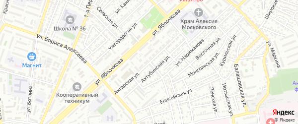 Ангарская улица на карте Астрахани с номерами домов