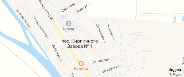 Совхозная улица на карте поселка Кирпичного Завода N1 с номерами домов