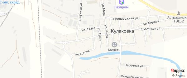 Улица Николая Островского на карте села Кулаковки с номерами домов