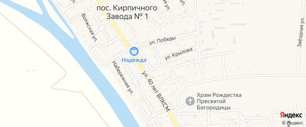 Пионерская улица на карте поселка Кирпичного Завода N1 с номерами домов