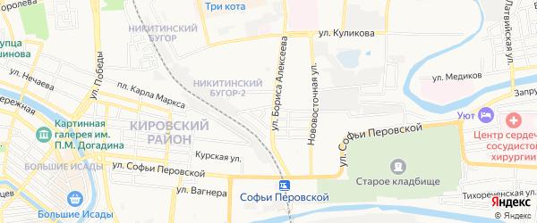 ГСК N1 Кировского района на карте Зеленгинская 4-я улицы с номерами домов