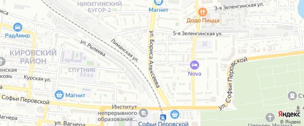 Лиманская улица на карте Астрахани с номерами домов