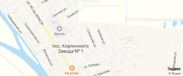 Солнечная улица на карте поселка Кирпичного Завода N1 с номерами домов