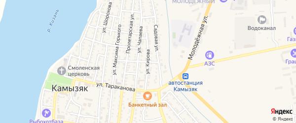Улица Кирова на карте Камызяка с номерами домов