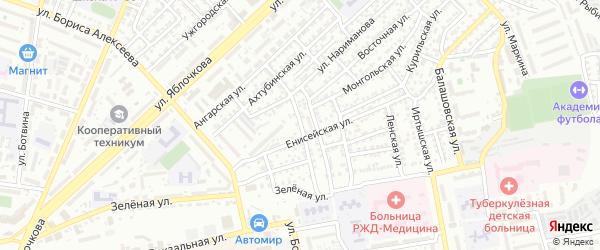 Эльтонская улица на карте Астрахани с номерами домов