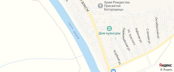 Набережная улица на карте поселка Кирпичного Завода N1 с номерами домов
