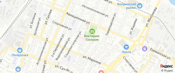 Спортивная улица на карте Астрахани с номерами домов
