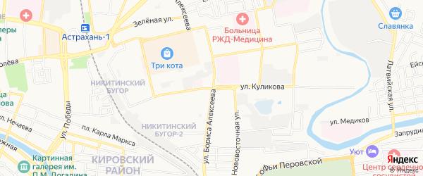 ГСК Медик на карте улицы Куликова с номерами домов
