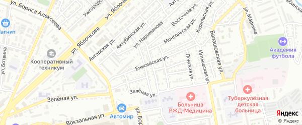 Баскунчакская улица на карте Астрахани с номерами домов