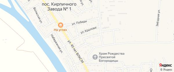 Улица Шолохова на карте поселка Кирпичного Завода N1 с номерами домов