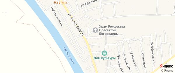 Заводской переулок на карте поселка Кирпичного Завода N1 с номерами домов