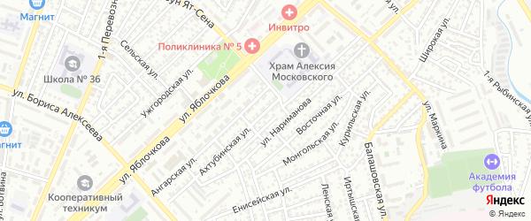 Ахтубинская улица на карте Астрахани с номерами домов