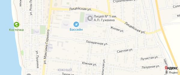 Полевой переулок на карте Камызяка с номерами домов