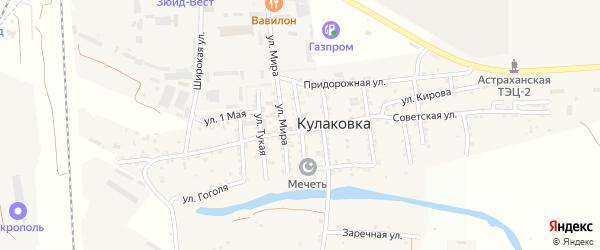 Улица Зои Космодемьянской на карте села Кулаковки с номерами домов