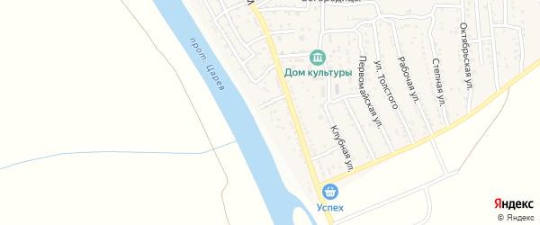 Улица Некрасова на карте поселка Кирпичного Завода N1 с номерами домов