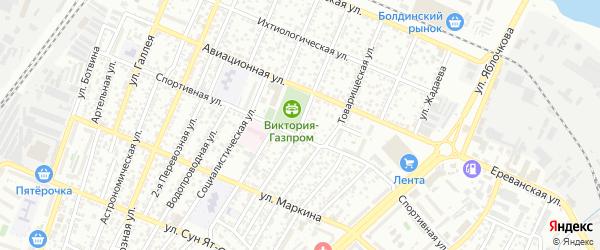 Профессиональная улица на карте Астрахани с номерами домов