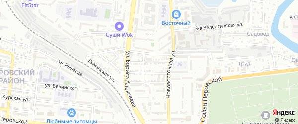 Зеленгинская 4-я улица на карте Астрахани с номерами домов