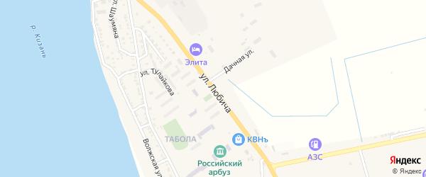 Улица Любича на карте Камызяка с номерами домов