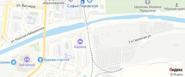 Гаражная улица на карте Астрахани с номерами домов