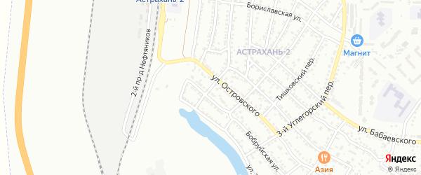 Углегорский 1-й переулок на карте Астрахани с номерами домов