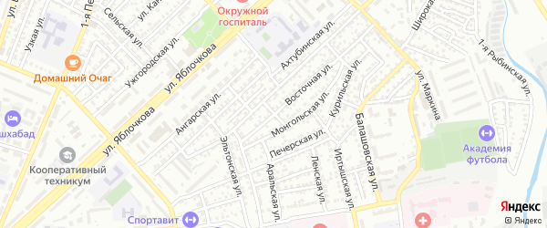 Гудермесская улица на карте Астрахани с номерами домов