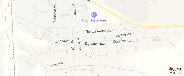 Восточная улица на карте села Кулаковки с номерами домов