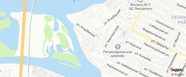 Промысловый переулок на карте Астрахани с номерами домов