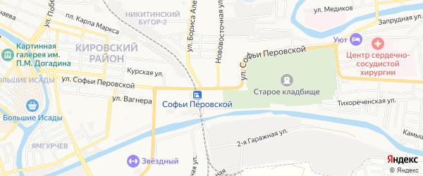 ГСК Любитель на карте улицы Софьи Перовской с номерами домов
