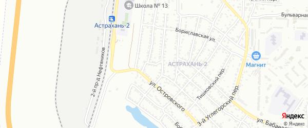 Железнодорожная 3-я улица на карте Астрахани с номерами домов