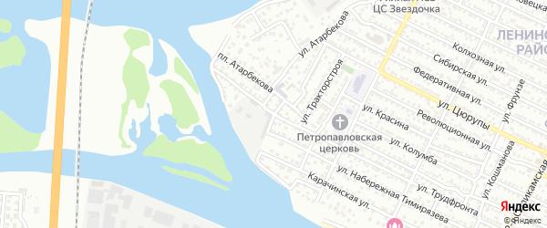 Переулок Бабкина на карте Астрахани с номерами домов