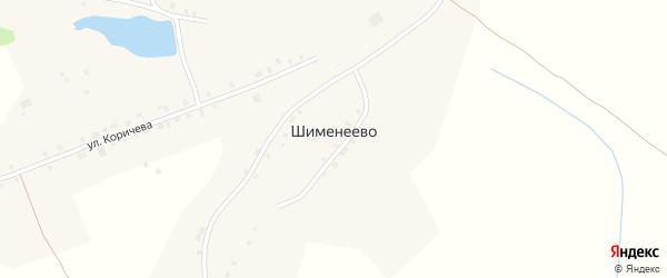 Шименеевская улица на карте деревни Шименеево с номерами домов