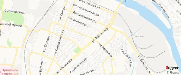 ГСК Маркина на карте Астрахани с номерами домов