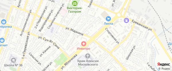 Улица Маркина на карте Астрахани с номерами домов