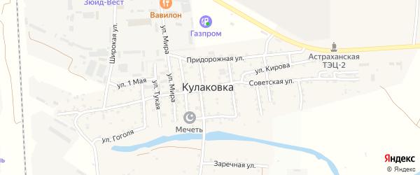 Советская улица на карте села Кулаковки с номерами домов
