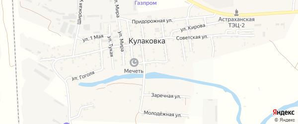 Пионерская улица на карте села Кулаковки с номерами домов